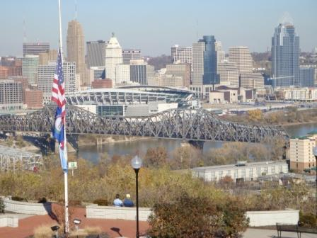 Downtown Cincinnati from Devou Park (Covington, Kentucky)