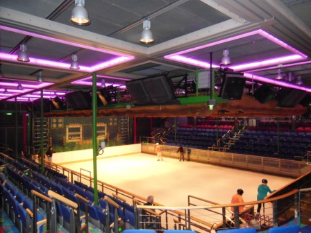 900 seat ice rink