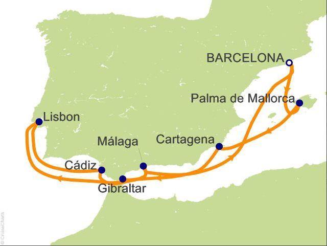 SpainPortugalCruiseMap