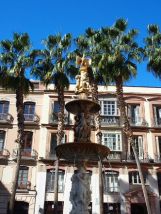 Malaga Old City Fountain